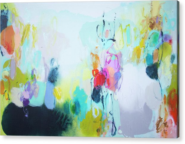 Abstract Acrylic Print featuring the painting On A Road Less Travelled by Claire Desjardins