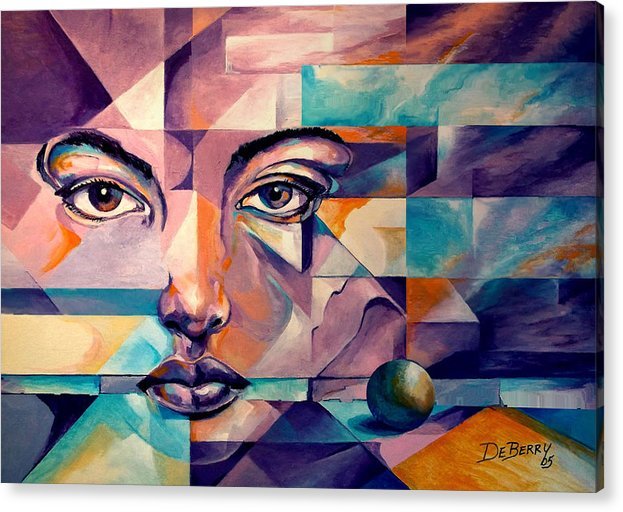 Original Oil On Canvas Acrylic Print featuring the painting Complications by Lloyd DeBerry