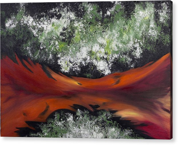 Abstract Acrylic Print featuring the painting The Conception of Birth by Ara Elena