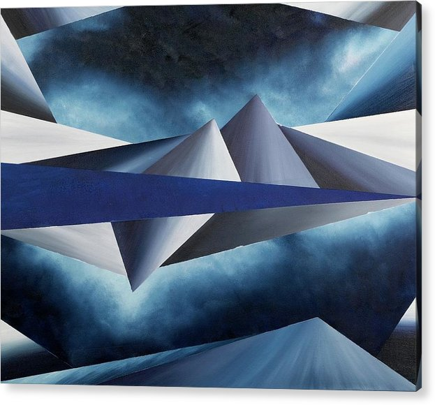 Abstract Geometry Acrylic Print featuring the painting The Reason of Tranquility by Ara Elena