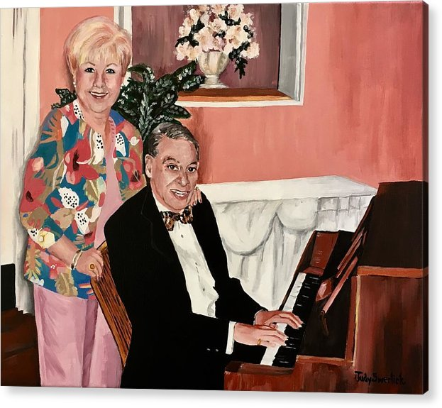 Acrylic Print featuring the painting Sweethearts by Judy Swerlick