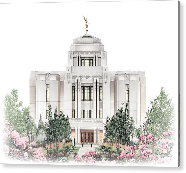 Meridian Acrylic Print featuring the digital art Meridian Temple - Celestial Series by Brent Borup
