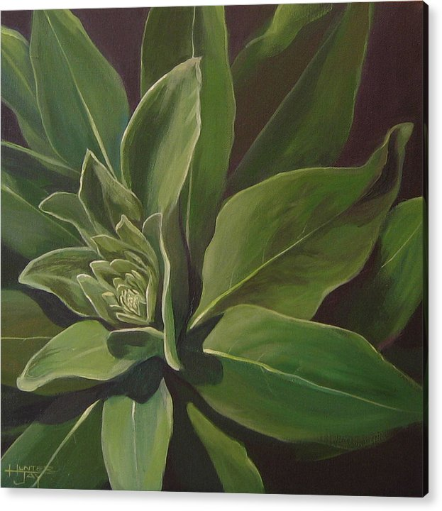 Closeup Of Mullein Plant Acrylic Print featuring the painting Beautiful Stranger by Hunter Jay