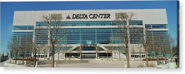 Photography Acrylic Print featuring the photograph Panoramic Of Delta Center Building by Panoramic Images