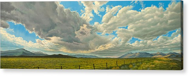 Landscape Acrylic Print featuring the painting Big Sky by Paul Krapf