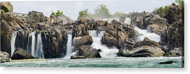 Scenics Acrylic Print featuring the photograph Great Falls Panoramic by Ogphoto