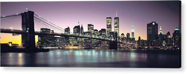 New York City Skyline Acrylic Print featuring the photograph New York City Skyline by Jon Neidert
