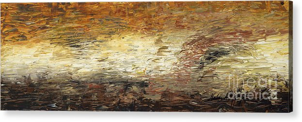 Terra Acrylic Print featuring the painting Terra by Nadine Rippelmeyer