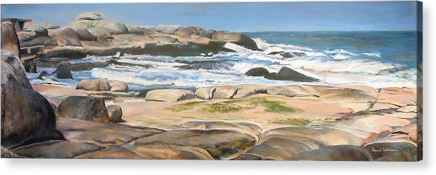 Paysage Acrylic Print featuring the painting Bretagne 2 by Muriel Dolemieux