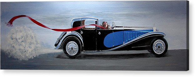Cars Acrylic Print featuring the painting Is It Dora by JoAnne Castelli-Castor