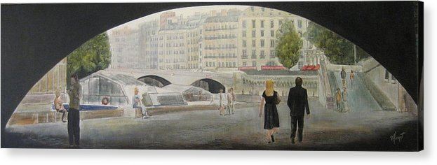 Paris Acrylic Print featuring the painting Left bank by Victoria Heryet