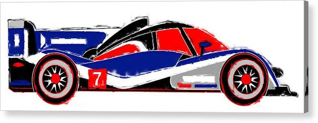 Le Mans Acrylic Print featuring the mixed media Le Mans by Asbjorn Lonvig