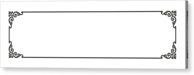 Panoramic Acrylic Print featuring the drawing Natrow Acroterium Border by CSA-Archive