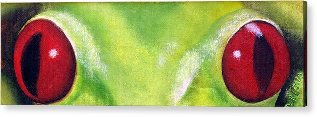 Red Eyed Tree Frog Acrylic Print featuring the painting Red Eyed Tree Frog by Darlene Green