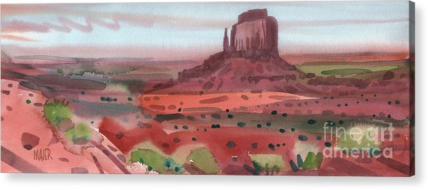 Right Mitten Acrylic Print featuring the painting Right Mitten Panorama by Donald Maier