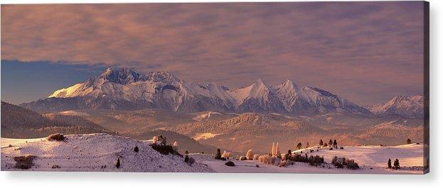 Tatra Acrylic Print featuring the photograph The Tatra Mountains by Krzysztof Mierzejewski