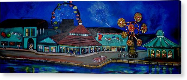 Asbury Art Acrylic Print featuring the painting Another memory of the Palace by Patricia Arroyo