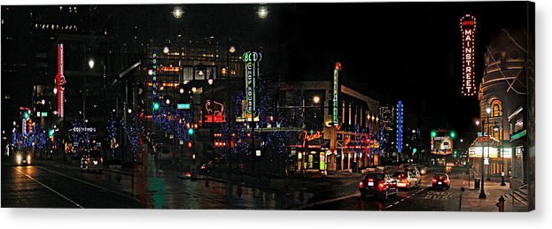 City Scape Acrylic Print featuring the photograph Fourteenth and Main by Steve Karol