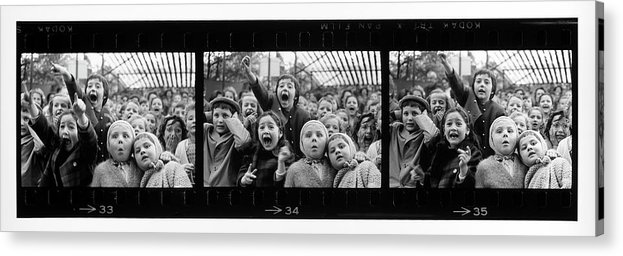 Timeincown Acrylic Print featuring the photograph Composite Of Frames 33 34 & 35 Of by Alfred Eisenstaedt