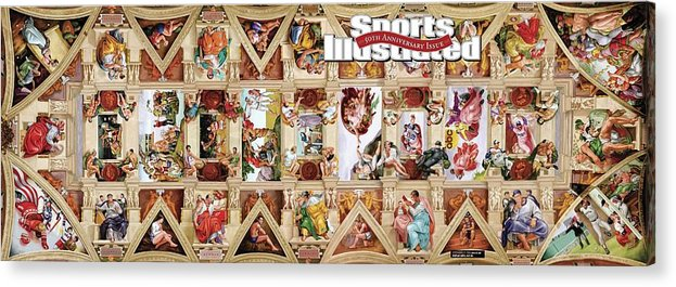 Event Acrylic Print featuring the photograph The Sistine Chapel Of Sports, 50th Anniversary Issue Sports Illustrated Cover by Sports Illustrated