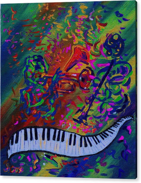 Jazz Painting Acrylic Print featuring the painting Saint Antony by Stephanie Cox