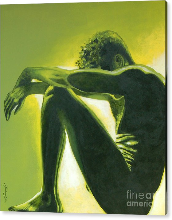 Figurative Acrylic Print featuring the painting Soliloquy by Padmakar Kappagantula