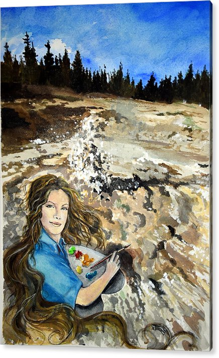American National Parks Acrylic Print featuring the painting Artist Paint Pots by Susan Moore