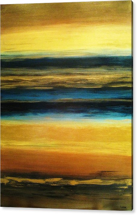 Canvas Art Paintings Acrylic Print featuring the painting Evening Sky by Sandra Lunde
