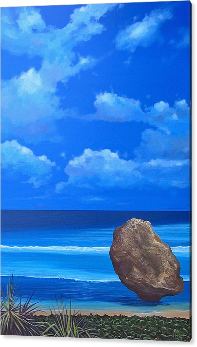 Barbados Acrylic Print featuring the painting Bathsheba by Hunter Jay