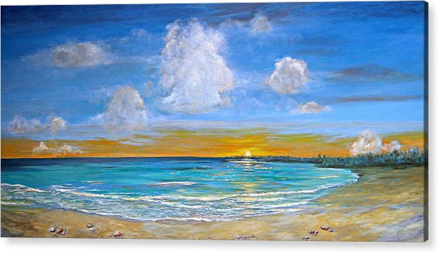 Seascape Acrylic Print featuring the painting Bay Of Tranquility by Jeannette Ulrich