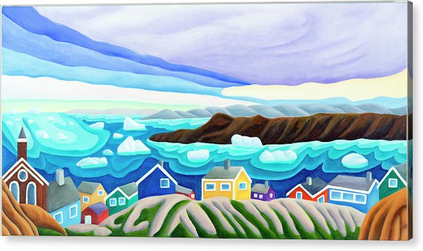 Arctic Landscape. Greenland Acrylic Print featuring the painting 69 Degrees 13 Minutes North by Lynn Soehner