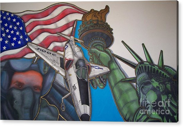 A Pilot Whom Was Killed In Vietnam Acrylic Print featuring the painting Rememberance by Jerry Foxworth