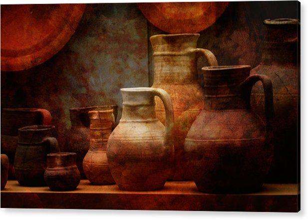 Conimbriga Acrylic Print featuring the photograph Roman Pots by Richard Unsworth