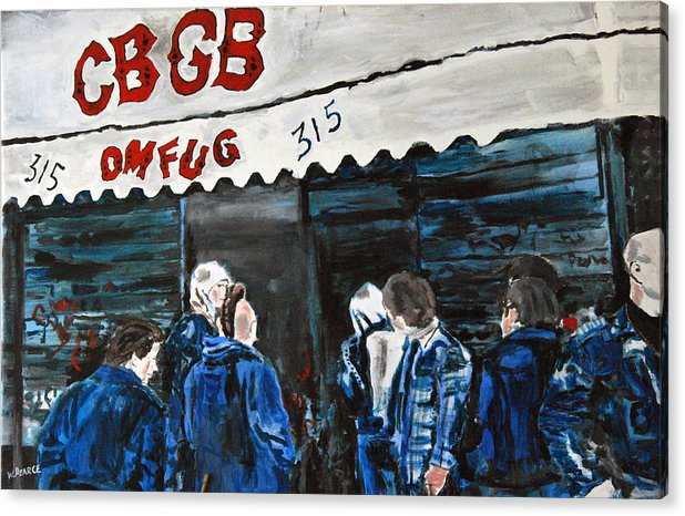 New York City Paintings Acrylic Print featuring the painting Cbgb's by Wayne Pearce