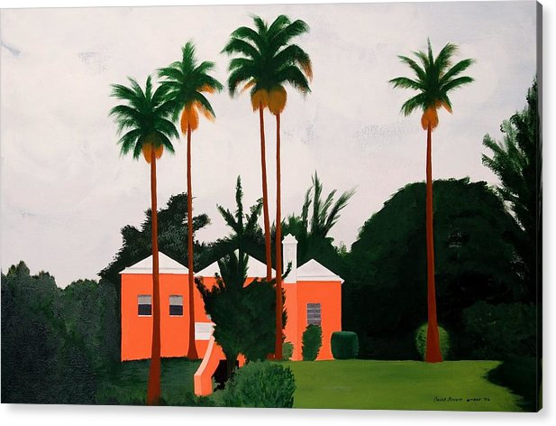 Island Houses Acrylic Print featuring the painting Albouys Point Bermuda by Caleb Bynum