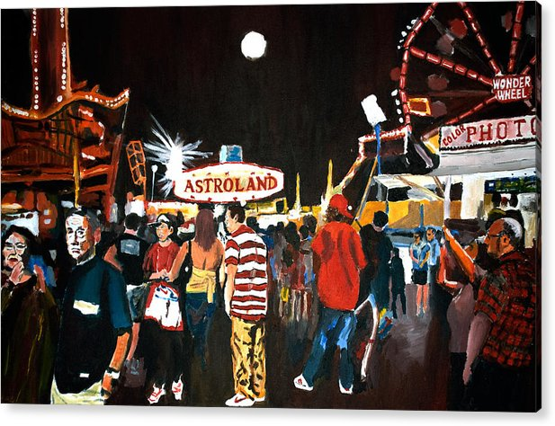 Coney Island Acrylic Print featuring the painting Astroland by Wayne Pearce