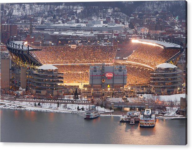 Steelers Acrylic Print featuring the photograph Pittsburgh 4 by Emmanuel Panagiotakis