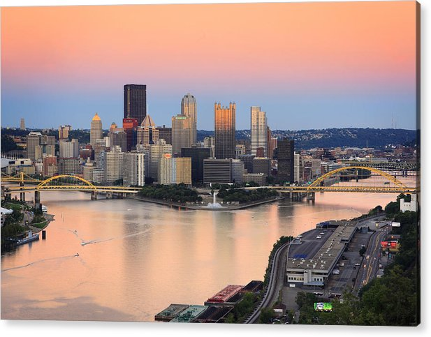 Steelers Acrylic Print featuring the photograph Pittsburgh 16 by Emmanuel Panagiotakis