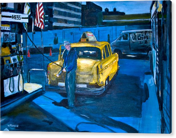 New York City Paintings Acrylic Print featuring the painting Taxi by Wayne Pearce