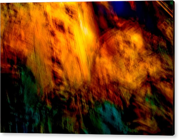 Landscape Acrylic Print featuring the painting Wounded Earth 2 by Tim Thorpe