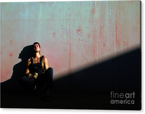 Light Acrylic Print featuring the photograph The Friend To My Friend... by Vadim Grabbe