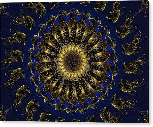 Swirl Acrylic Print featuring the digital art China Blue by Robert Orinski