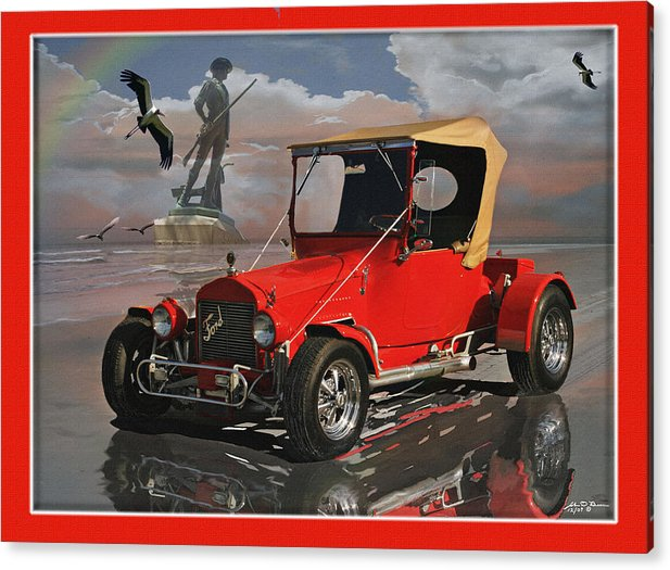 Acrylic Print featuring the painting Min Man T Bucket by John Breen