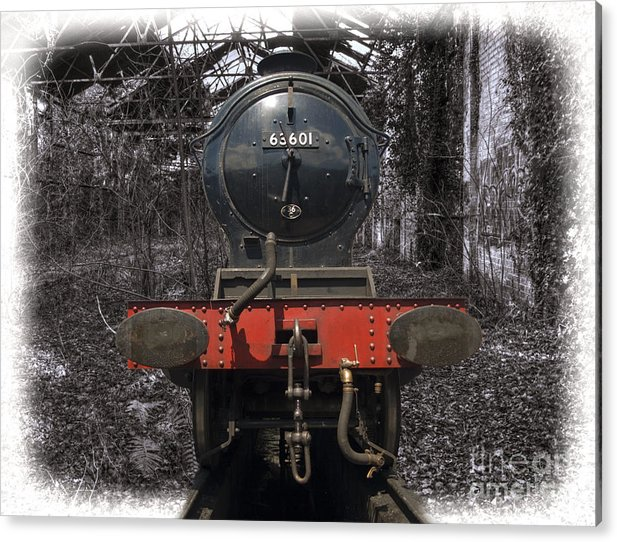 Train Acrylic Print featuring the photograph Steam Train Memory 1 by Steev Stamford