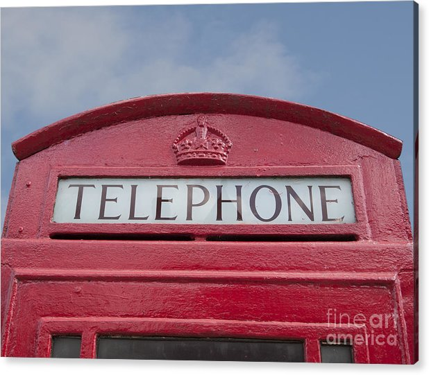 Telephone Acrylic Print featuring the photograph Call Me by Steev Stamford