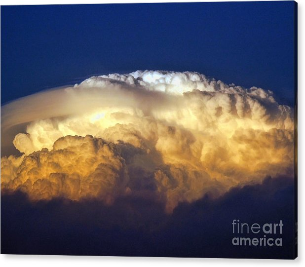 Clouds Acrylic Print featuring the photograph Dark Clouds - 3 by Graham Taylor