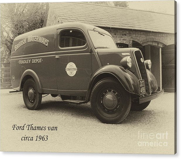 Van Acrylic Print featuring the photograph Ford Thames Van Aged by Steev Stamford