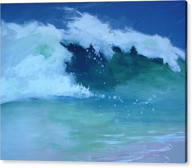 Surf Acrylic Print featuring the painting Hapuna Beach Shore Stack by Paul Miller