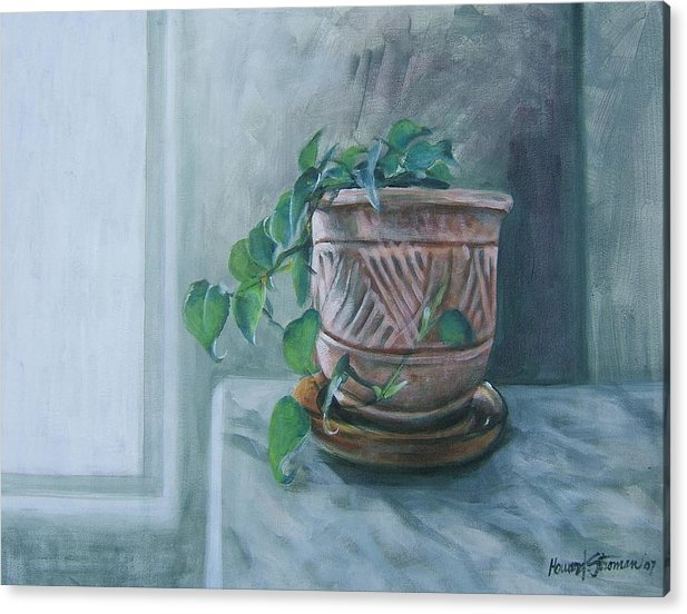 Still Life Acrylic Print featuring the painting Let There Be Light by Howard Stroman