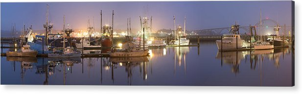 Sky Acrylic Print featuring the photograph Early Morning Harbor II by Jon Glaser